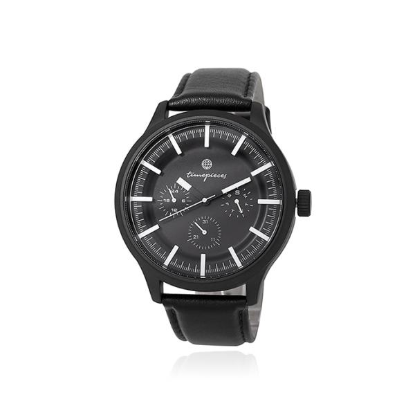 [오에스티] 블랙 가죽 시계 OTM118712FBB