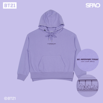 (BT21) 슬릿 후드_LIGHT PURPLE_SPMB949G02