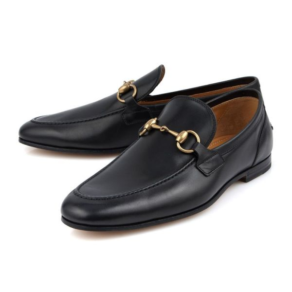 113821f3c35 Gucci Jordaan Horsebit Leather Loafers (406994 BLM00 1000) - 이랜드 ...