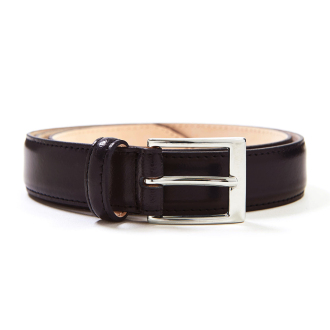 [SADDLERS]BASIC LEATHER BELT(브라운/네이비)