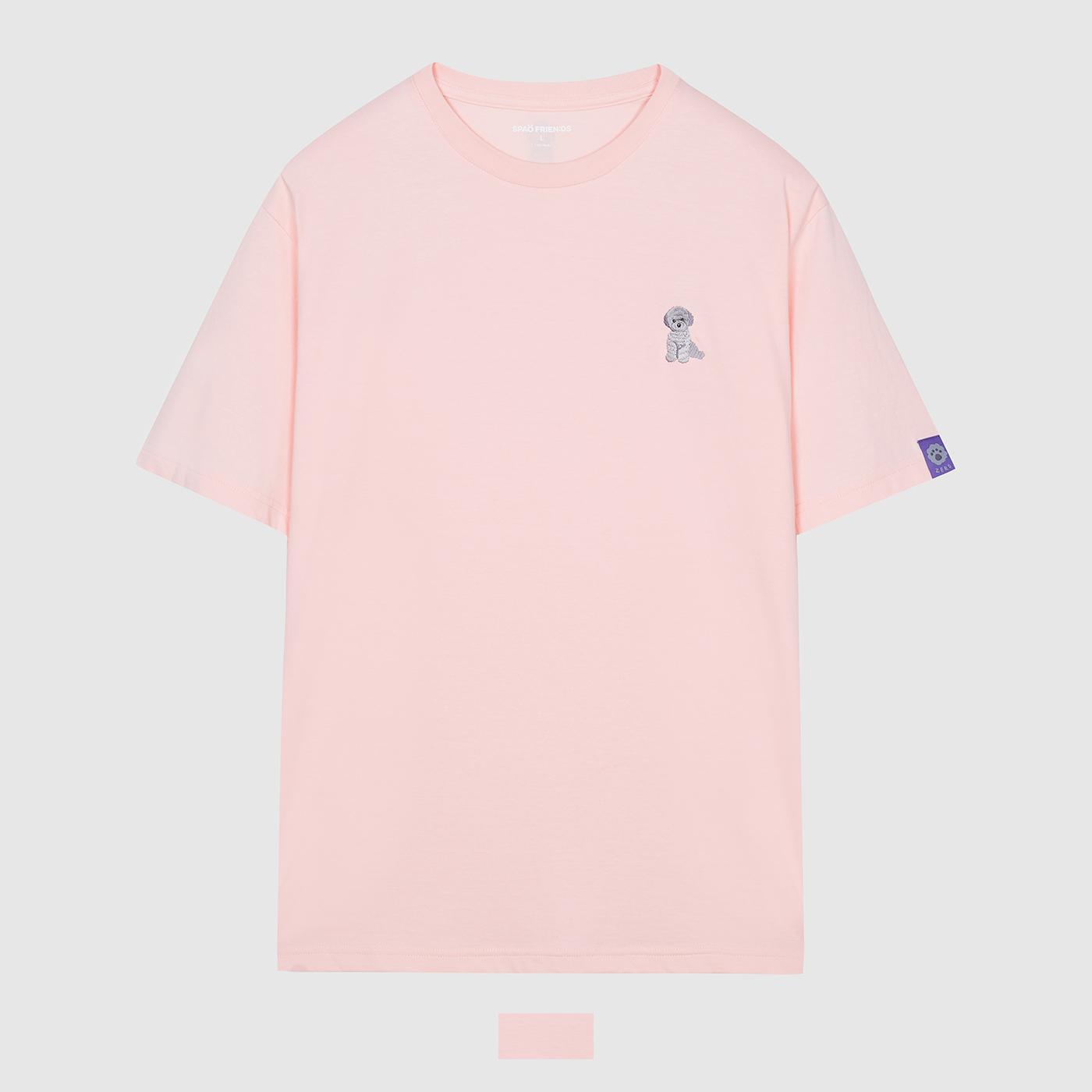 [스파오](ZERO) 슈스개 제로 티셔츠(LIGHT PINK) SPRLA37C13